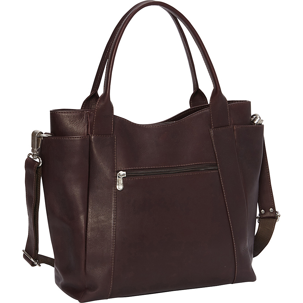 Piel Street Tote Chocolate - Piel Leather Handbags - Handbags, Leather Handbags