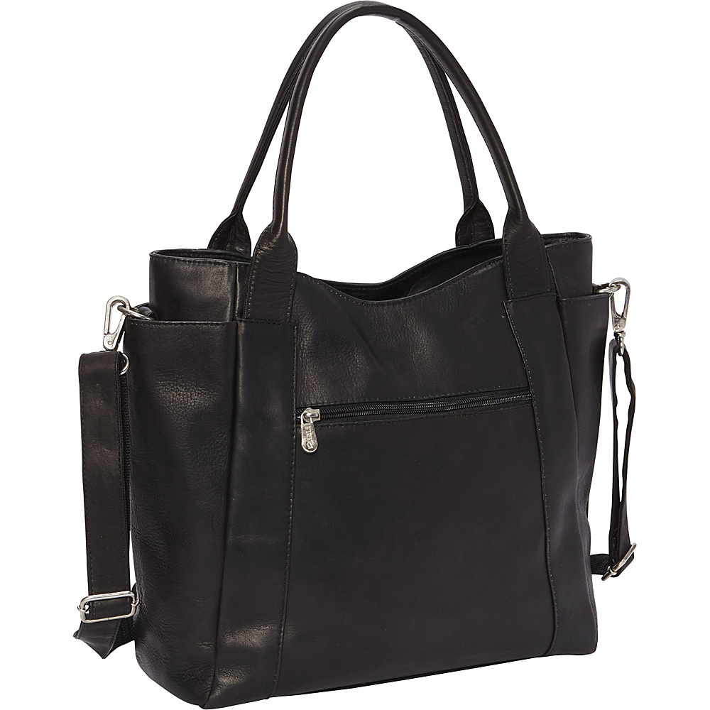 Piel Street Tote Black - Piel Leather Handbags - Handbags, Leather Handbags