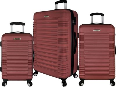 Elite Luggage Tustin 3 Piece Hardside Spinner Luggage Set Red - Elite Luggage Luggage Sets