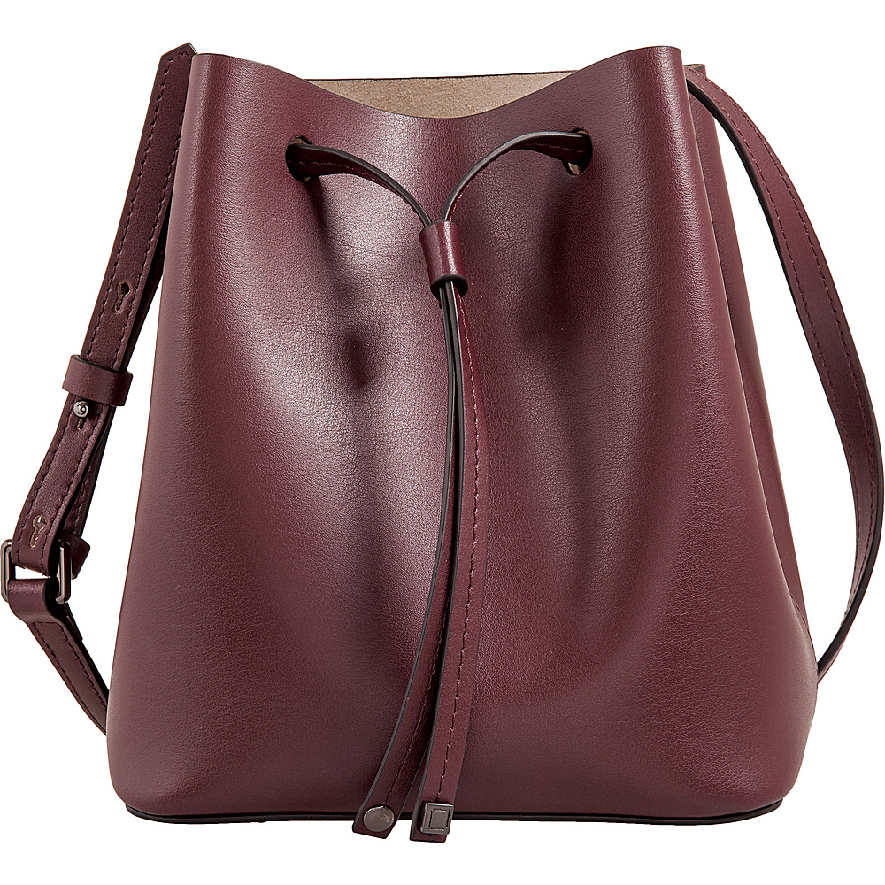 Lodis Silicon Valley RFID Blake Small Drawstring Crossbody Chianti/Taupe - Lodis Leather Handbags - Handbags, Leather Handbags