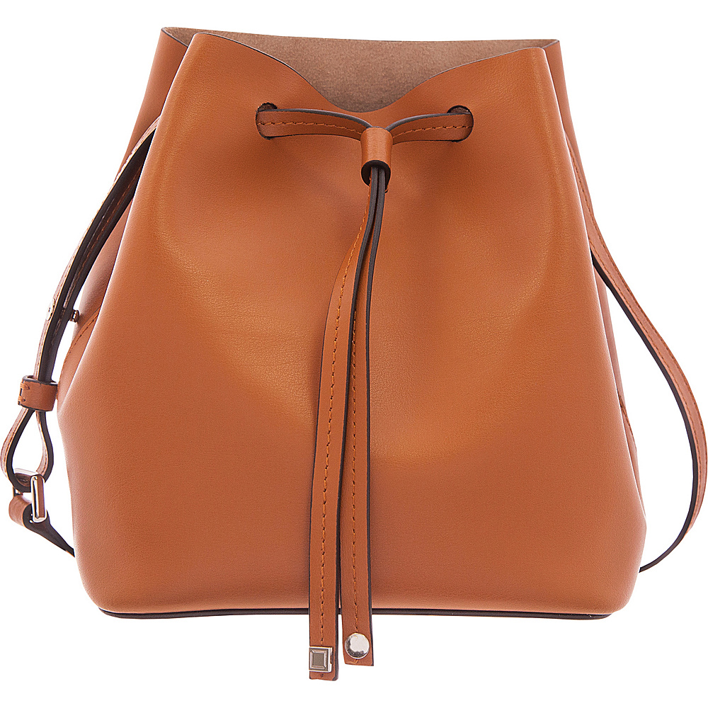 Lodis Silicon Valley RFID Blake Small Drawstring Crossbody Toffee/Taupe - Lodis Leather Handbags - Handbags, Leather Handbags