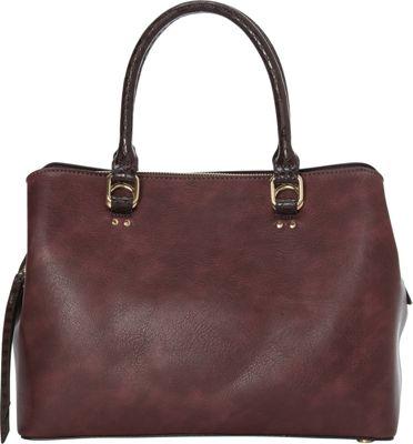 La Diva Ireland Shoulder Bag Bordeaux - La Diva Manmade Handbags