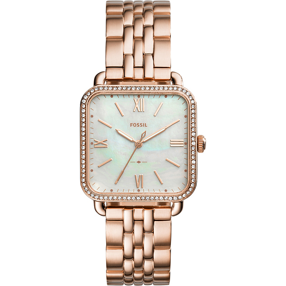 Fossil Micah Three-Hand Stainless Steel Watch Rose Gold - Fossil Watches - Fashion Accessories, Watches