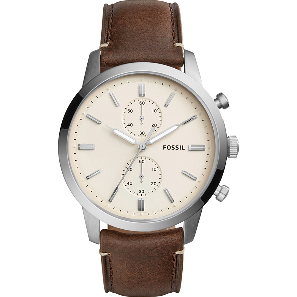 Fossil Townsman 44mm Chronograph Brown Leather Watch Brown - Fossil Watches - Fashion Accessories, Watches