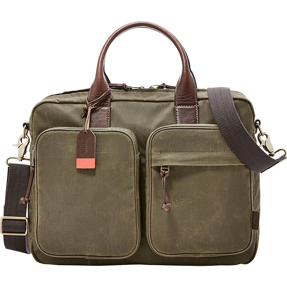 Fossil Defender Top Zip Workbag Green - Fossil Messenger Bags - Work Bags & Briefcases, Messenger Bags