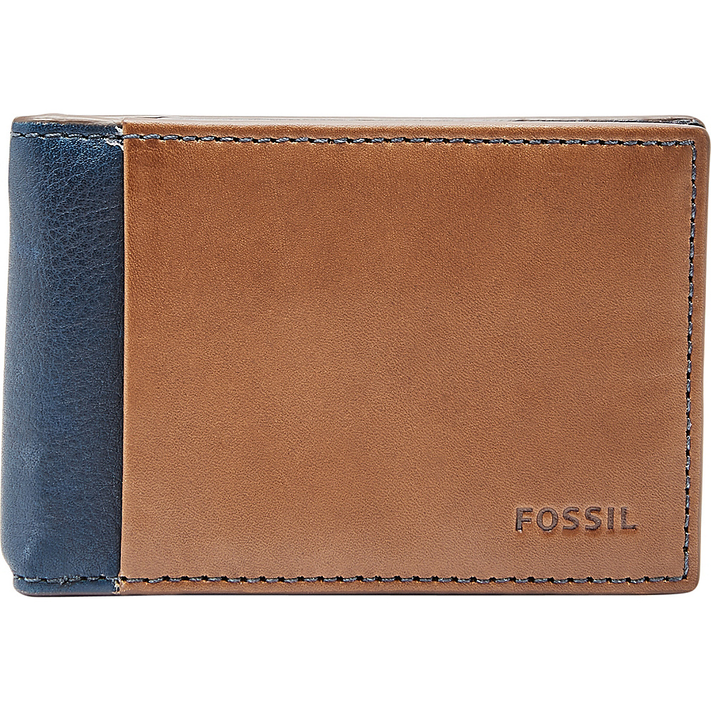 Fossil Ward RFID Money Clip Bifold Navy - Fossil Mens Wallets - Work Bags & Briefcases, Men's Wallets