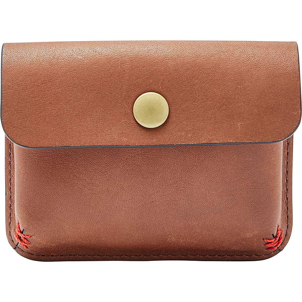 Fossil Samuel Card Case Cognac - Fossil Mens Wallets - Work Bags & Briefcases, Men's Wallets