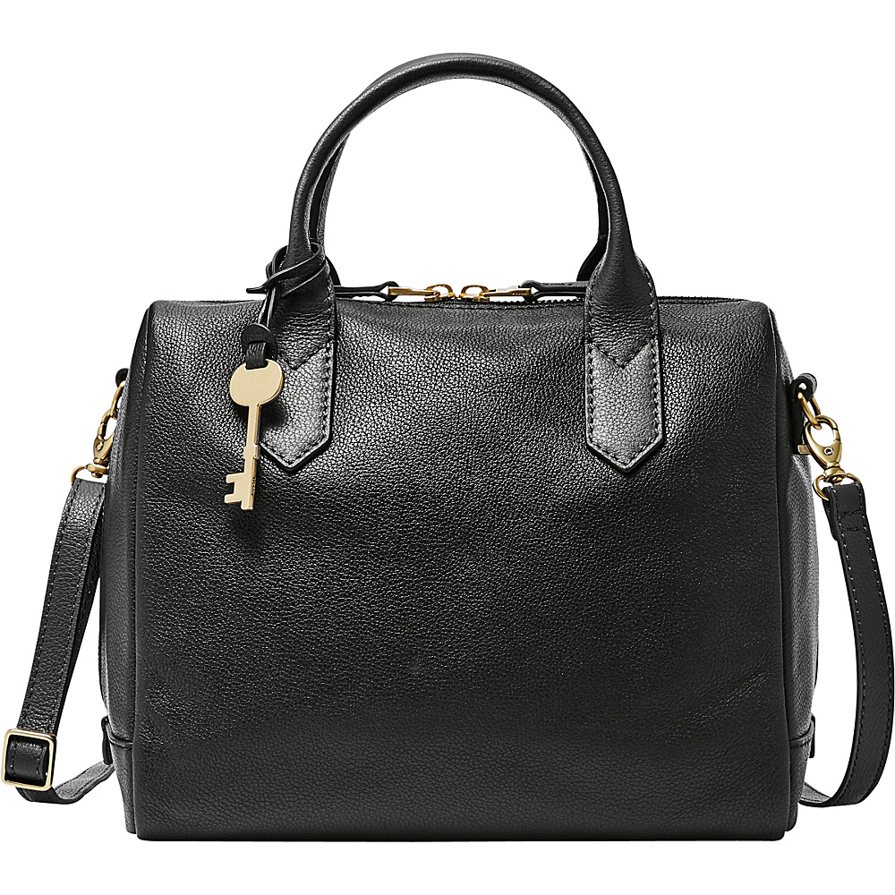 Fossil Fiona Satchel Black - Fossil Leather Handbags - Handbags, Leather Handbags
