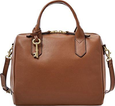Fossil Fiona Satchel Medium Brown - Fossil Leather Handbags