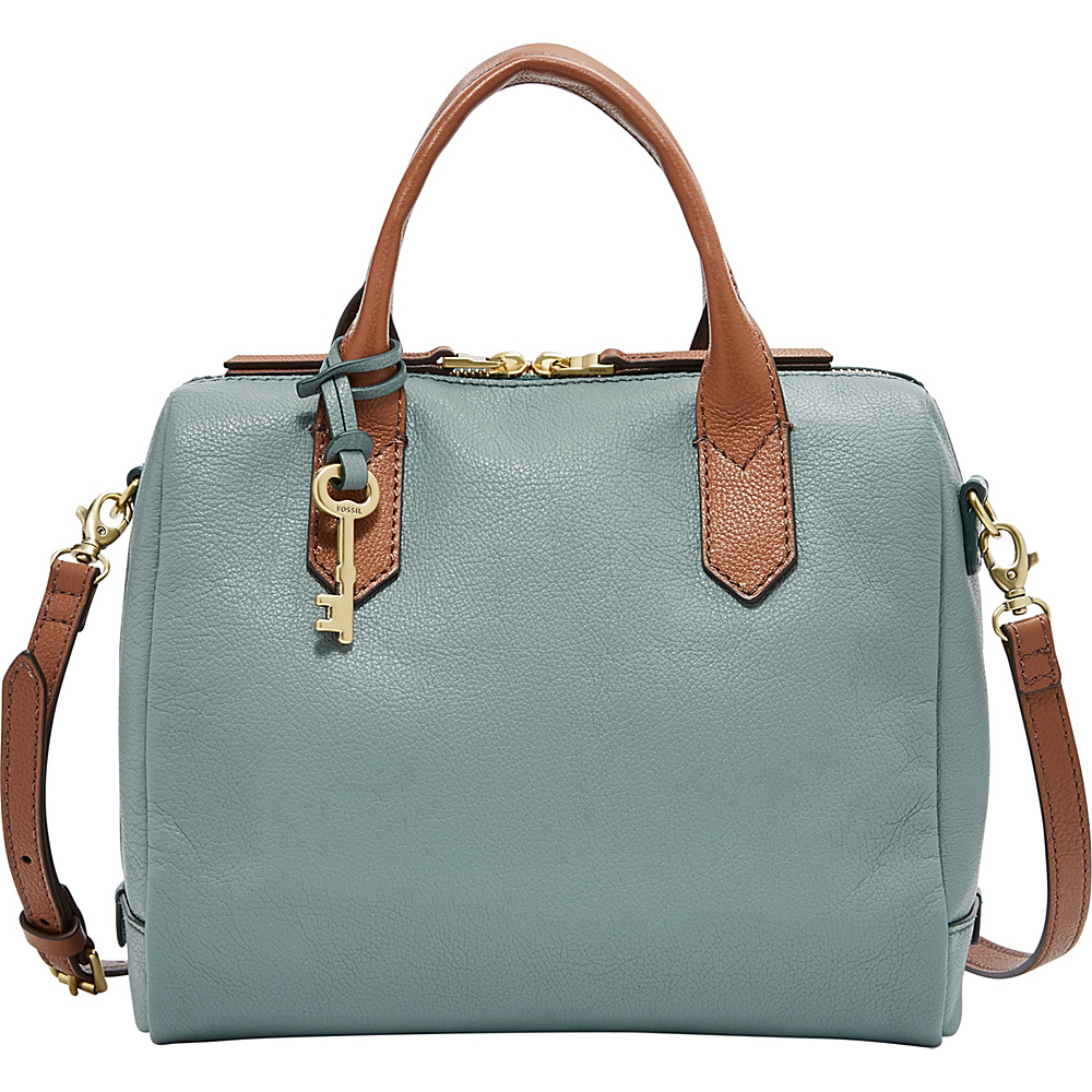 Fossil Fiona Satchel Blue - Fossil Leather Handbags - Handbags, Leather Handbags