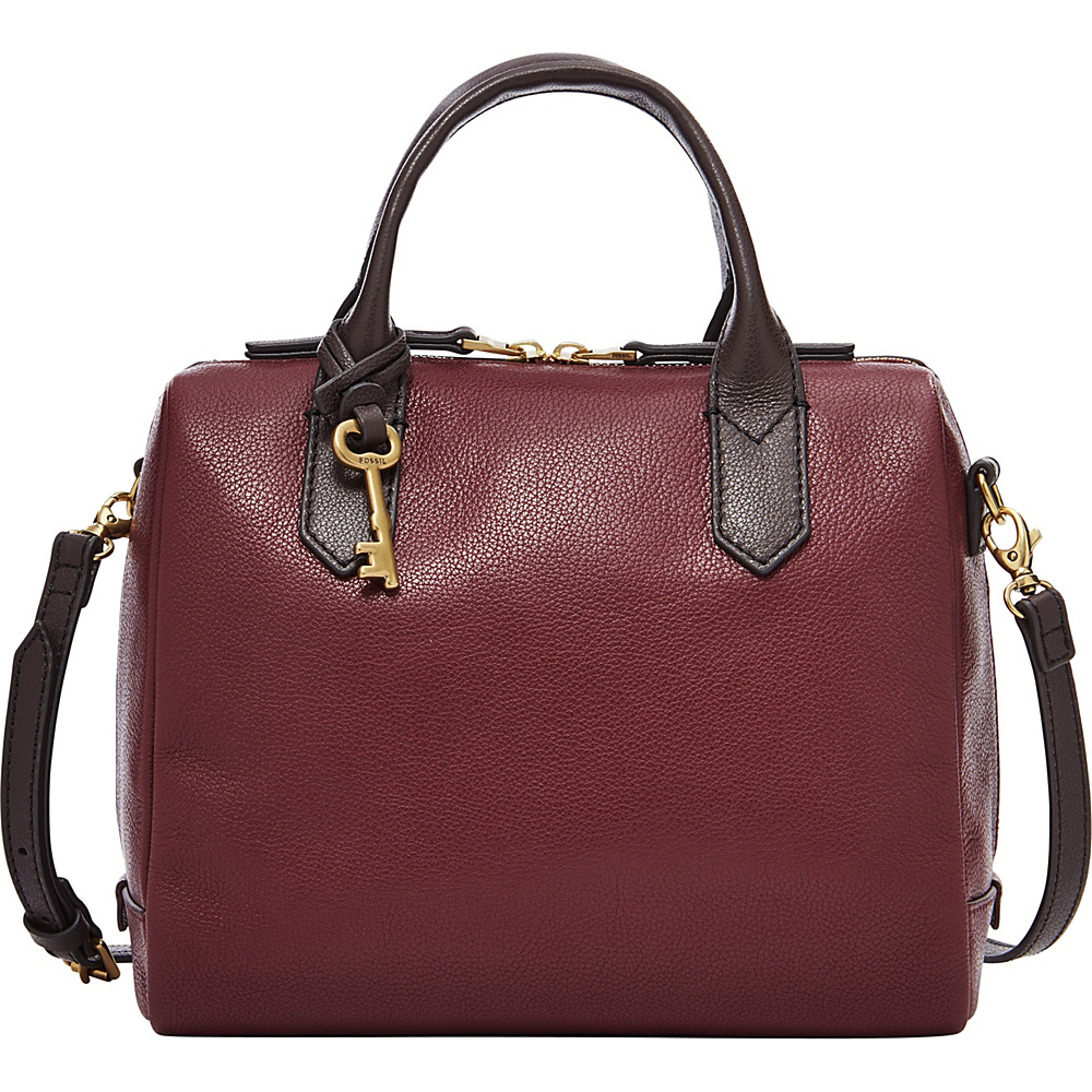 Fossil Fiona Satchel Cabernet - Fossil Leather Handbags - Handbags, Leather Handbags