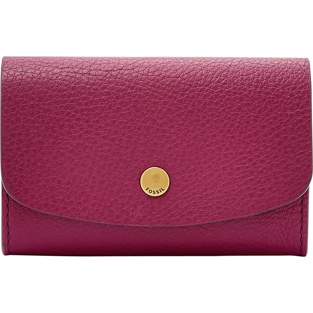 Fossil Haven Card Case Raspberry Wine - Fossil Womens Wallets - Women's SLG, Women's Wallets
