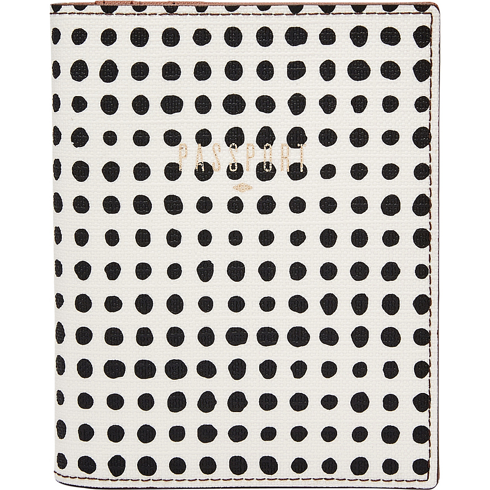 Fossil RFID Passport Case White w/ Black - Fossil Travel Wallets - Travel Accessories, Travel Wallets