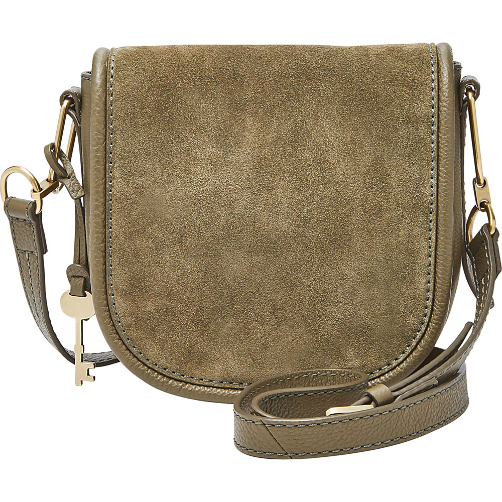 Fossil Rumi Small Crossbody Green - Fossil Leather Handbags - Handbags, Leather Handbags