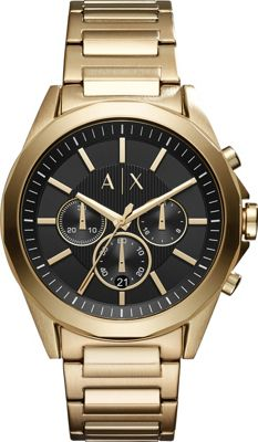 A/X Armani Exchange Dress Watch Gold - A/X Armani Exchange Watches