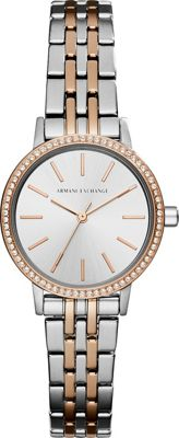 A/X Armani Exchange A/X Armani Exchange Dress Watch Silver/Rose Gold - A/X Armani Exchange Watches