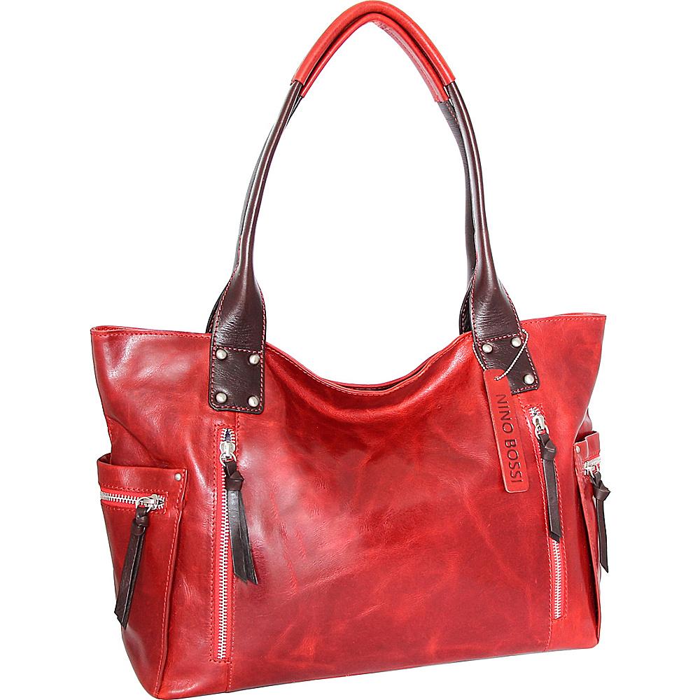 Nino Bossi Tessa Tote Tomato - Nino Bossi Leather Handbags - Handbags, Leather Handbags