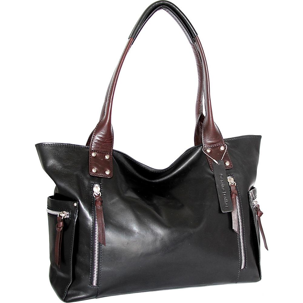 Nino Bossi Tessa Tote Black - Nino Bossi Leather Handbags - Handbags, Leather Handbags