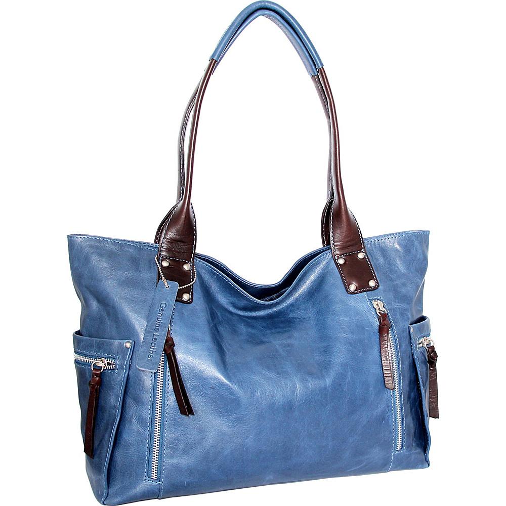 Nino Bossi Tessa Tote Denim - Nino Bossi Leather Handbags - Handbags, Leather Handbags