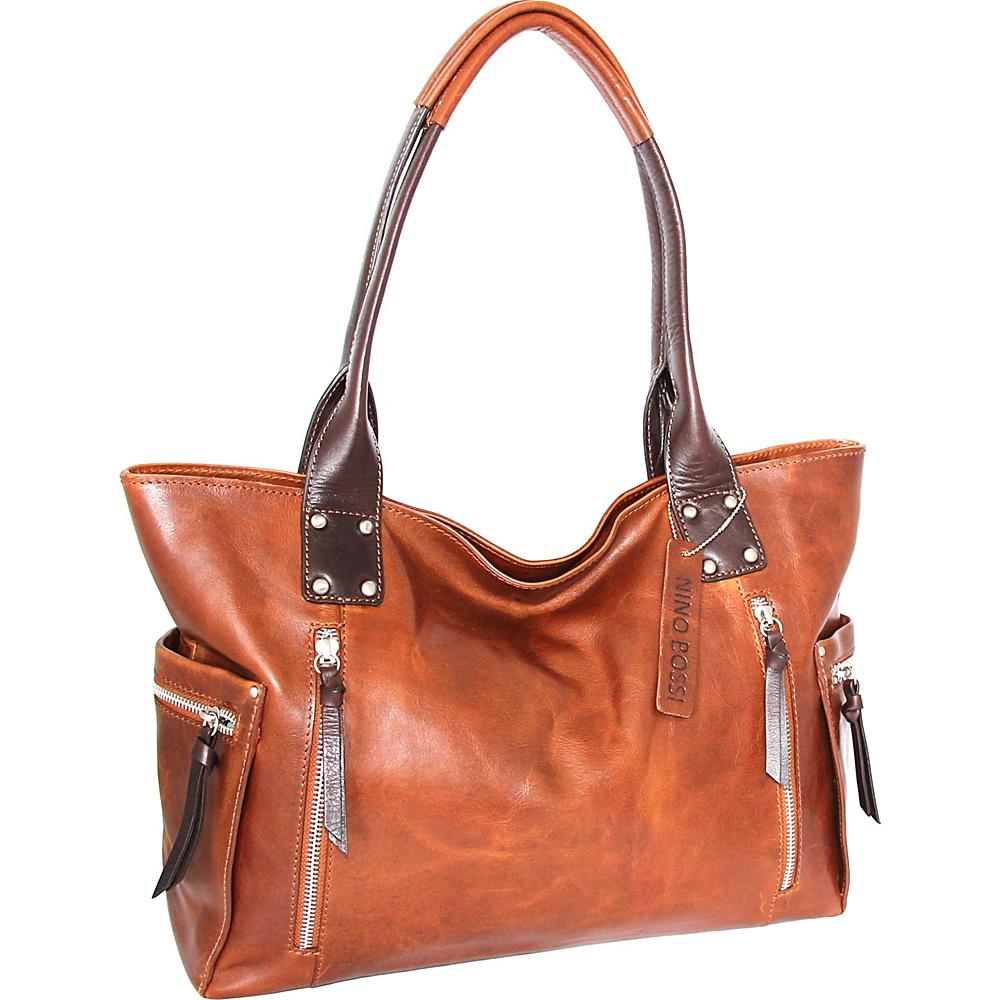 Nino Bossi Tessa Tote Cognac - Nino Bossi Leather Handbags - Handbags, Leather Handbags