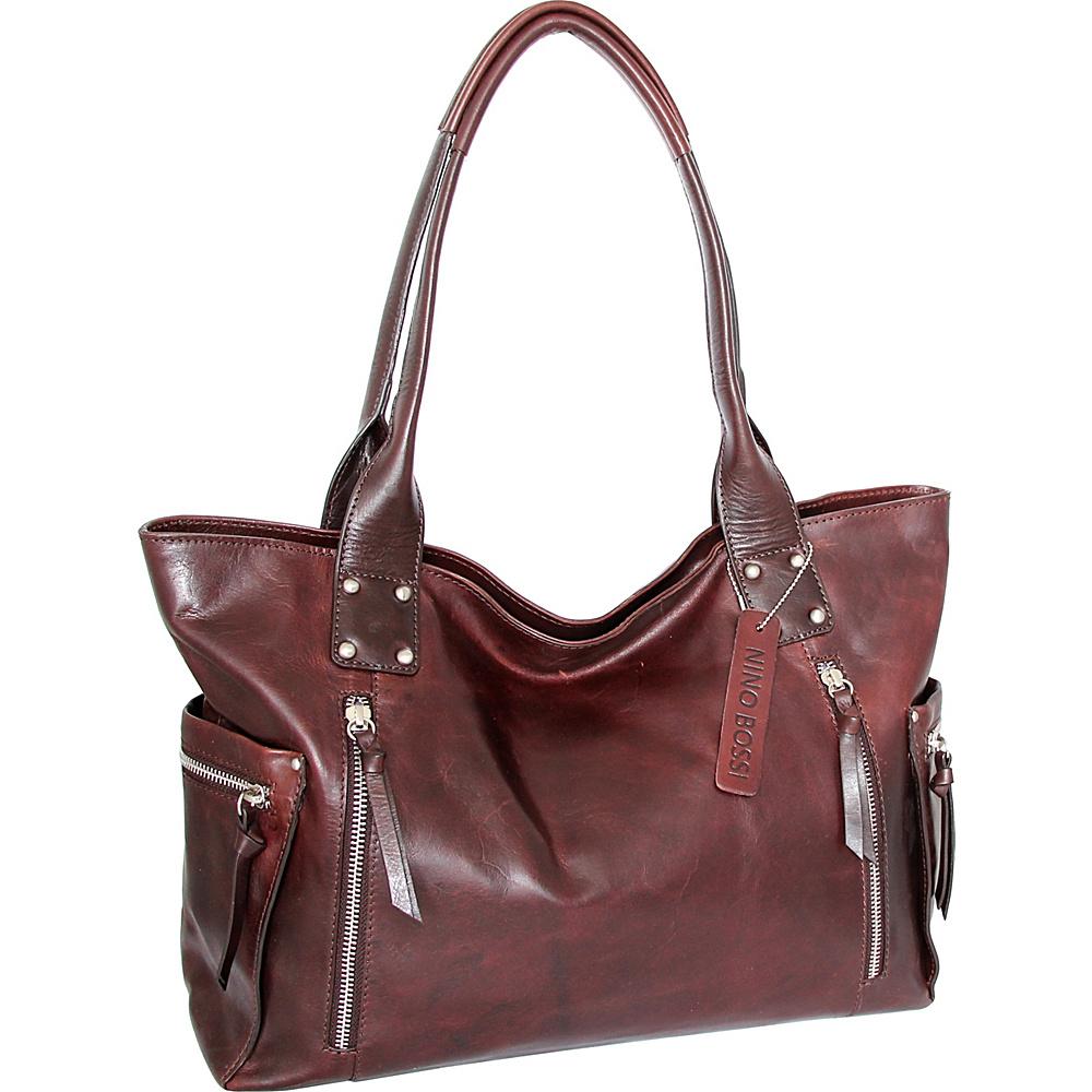 Nino Bossi Tessa Tote Chestnut - Nino Bossi Leather Handbags - Handbags, Leather Handbags
