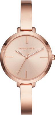 Michael Kors Watches Jaryn Three-Hand Half Bangle Watch Rose Gold - Michael Kors Watches Watches
