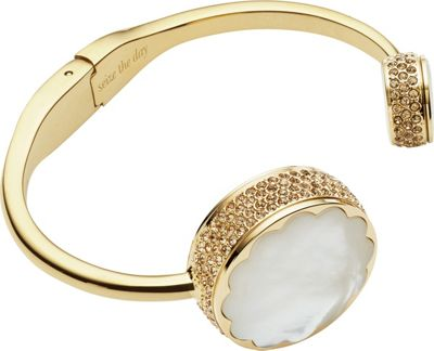 kate spade watches kate spade watches Scallop Pave Hinge Bangle Activity Tracker Gold - kate spade watches Wearable Technology