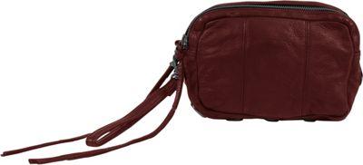 Day & Mood Aura Clutch Rusty Red - Day & Mood Leather Handbags
