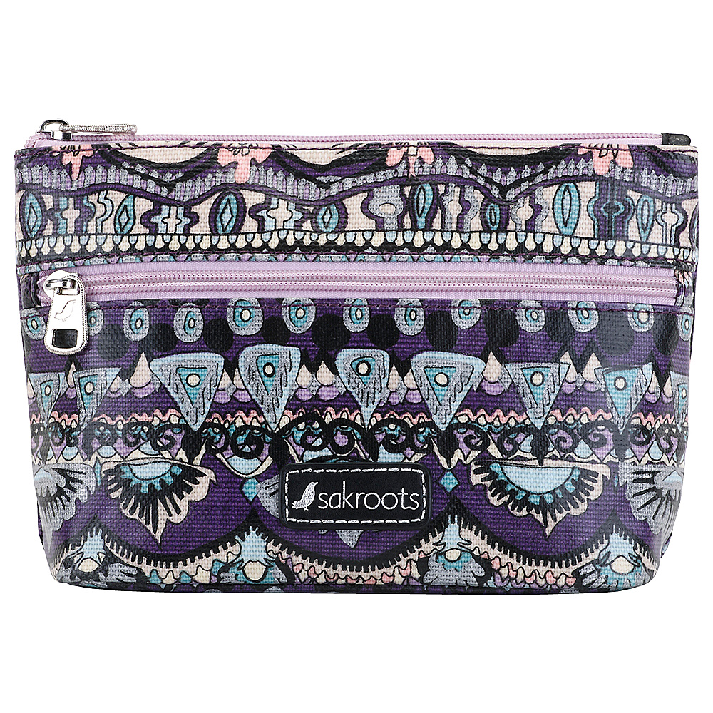Sakroots Adrienne On The Go Small Cosmetic Violet One World - Sakroots Womens Wallets - Women's SLG, Women's Wallets