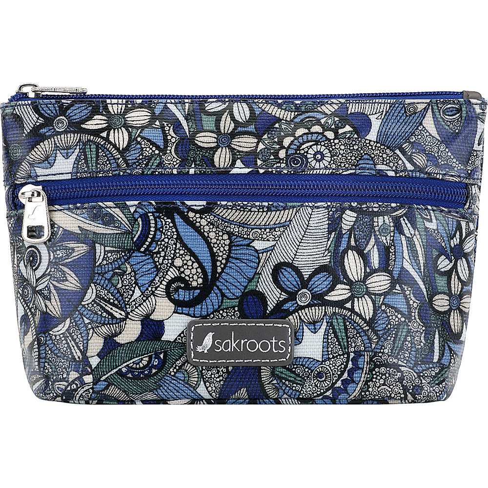 Sakroots Adrienne On The Go Small Cosmetic Blue Steel Spirit Desert - Sakroots Womens Wallets - Women's SLG, Women's Wallets