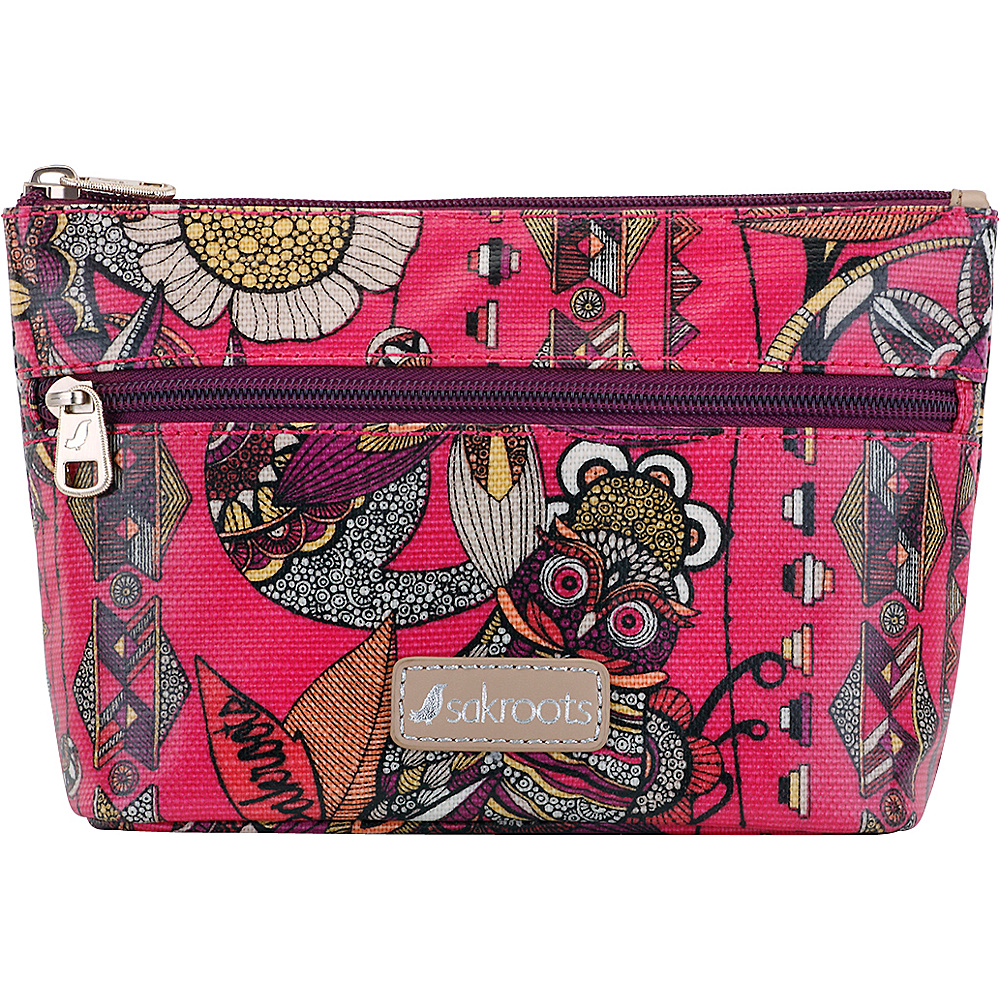 Sakroots Adrienne On The Go Small Cosmetic Fuschia Spirit Desert - Sakroots Womens Wallets - Women's SLG, Women's Wallets