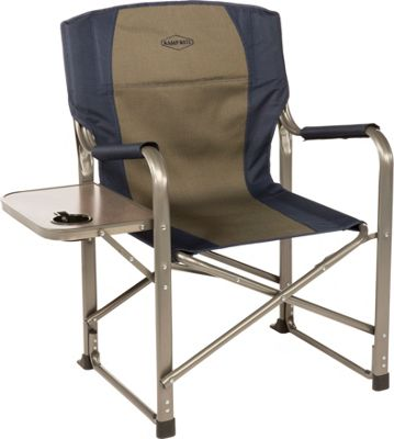 Kamp Rite Kamp Rite Director's Chair with Side Table Blue / Khaki - Kamp Rite Outdoor Accessories