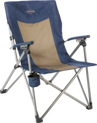 Kamp Rite Kamp Rite 3 Position Hard Arm Reclining Chair Blue / Khaki - Kamp Rite Outdoor Accessories