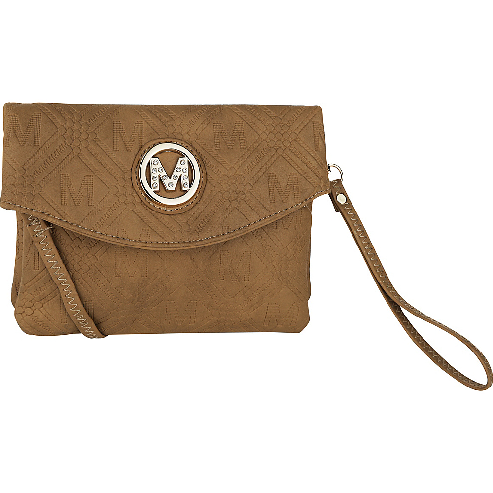 MKF Collection by Mia K. Farrow Anna Signature Wallet/Wristlet Taupe - MKF Collection by Mia K. Farrow Womens Wallets - Women's SLG, Women's Wallets