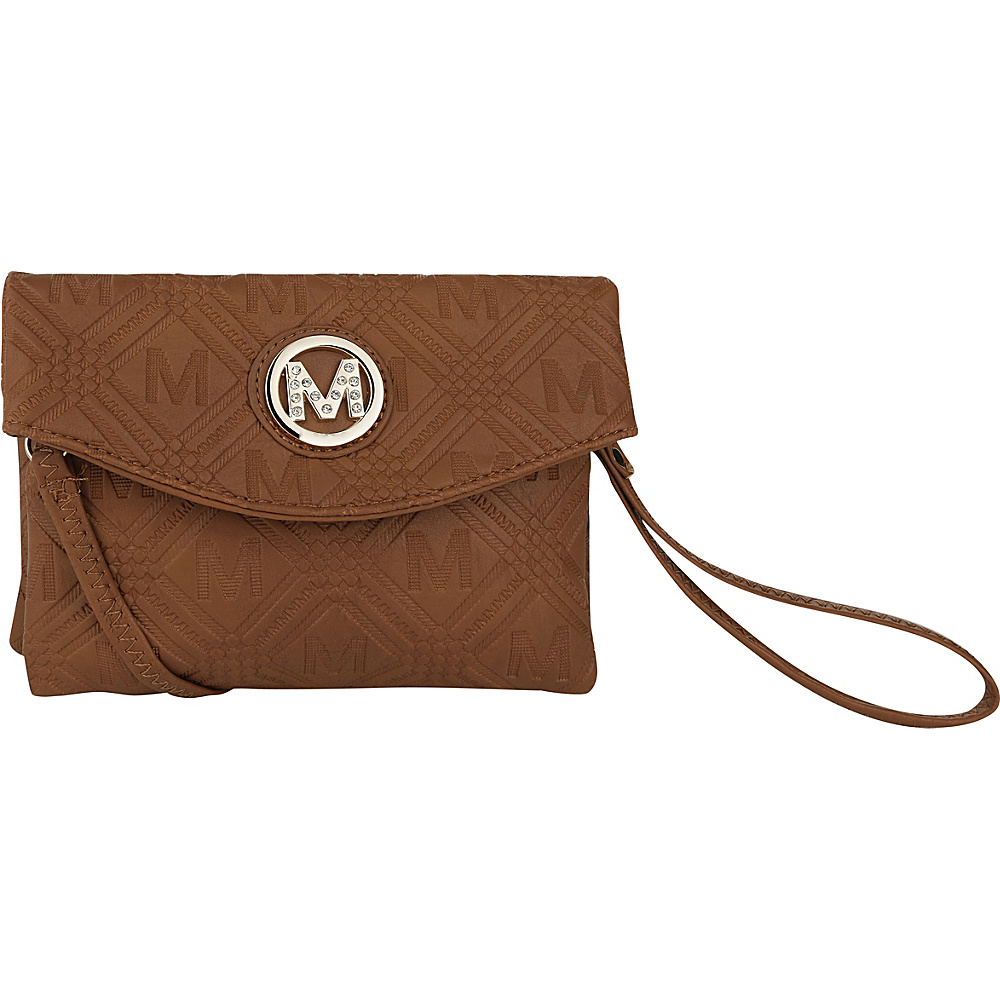 MKF Collection by Mia K. Farrow Anna Signature Wallet/Wristlet Brown - MKF Collection by Mia K. Farrow Womens Wallets - Women's SLG, Women's Wallets