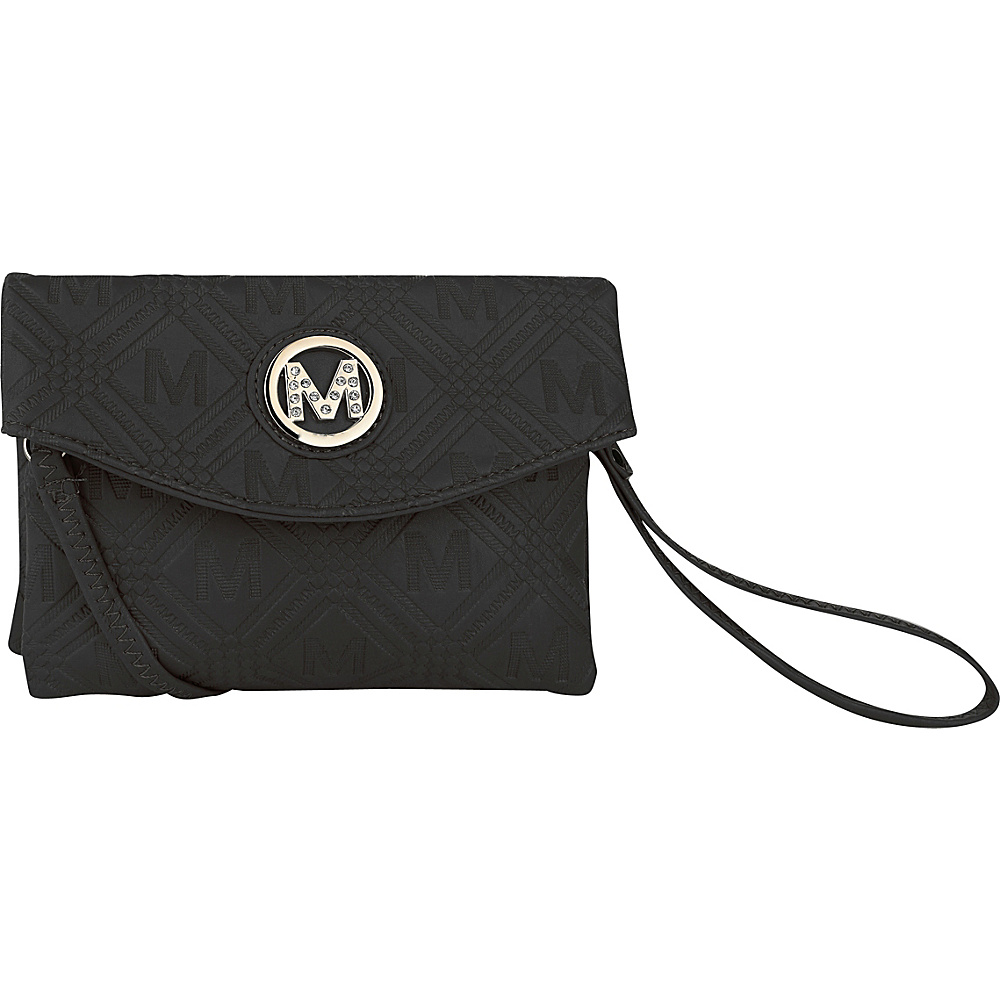 MKF Collection by Mia K. Farrow Anna Signature Wallet/Wristlet Black - MKF Collection by Mia K. Farrow Womens Wallets - Women's SLG, Women's Wallets