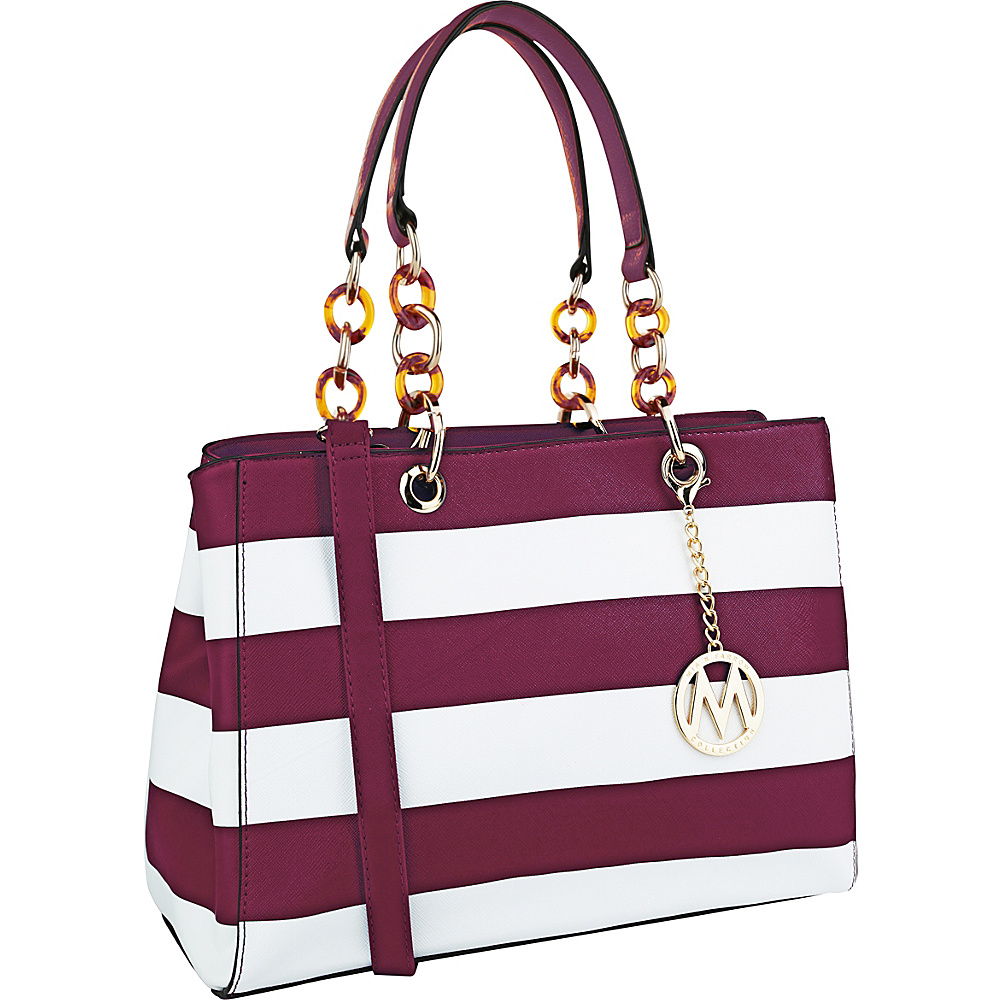 MKF Collection by Mia K. Farrow Clementine Milan M Signature Tote Purple - MKF Collection by Mia K. Farrow Manmade Handbags - Handbags, Manmade Handbags