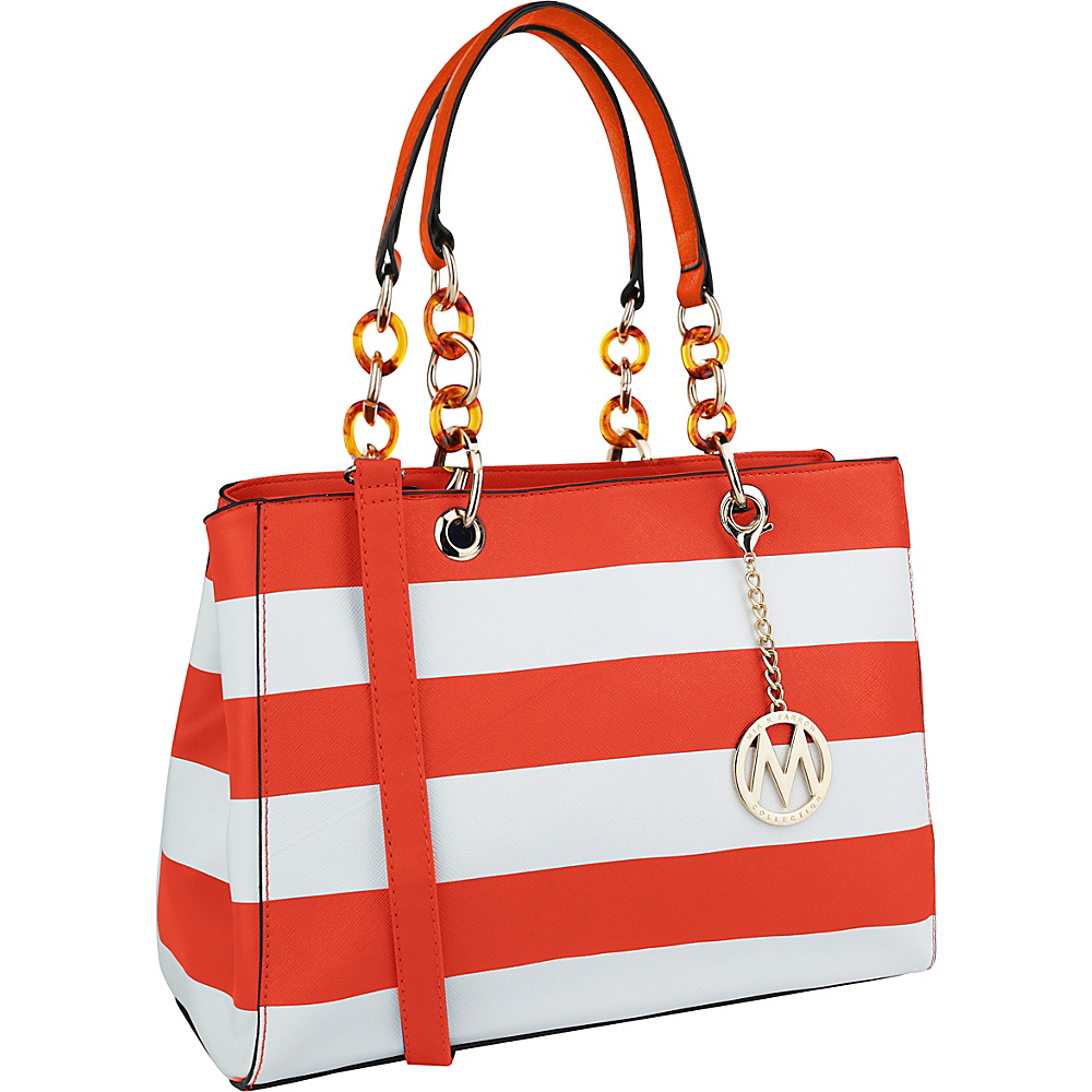 MKF Collection by Mia K. Farrow Clementine Milan M Signature Tote Orange - MKF Collection by Mia K. Farrow Manmade Handbags - Handbags, Manmade Handbags
