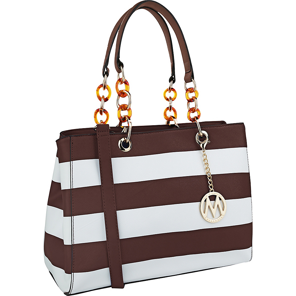 MKF Collection by Mia K. Farrow Clementine Milan M Signature Tote Coffee - MKF Collection by Mia K. Farrow Manmade Handbags - Handbags, Manmade Handbags