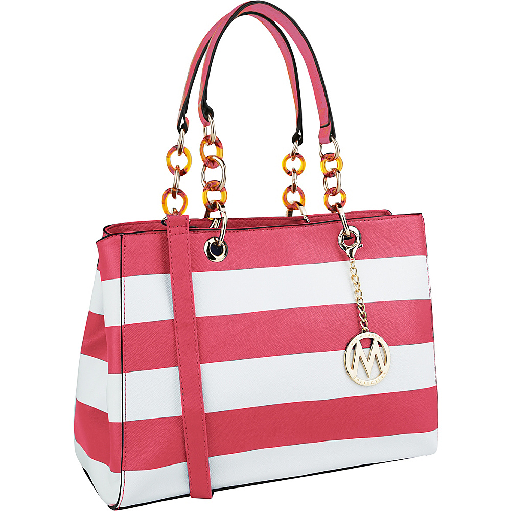 MKF Collection by Mia K. Farrow Clementine Milan M Signature Tote Fuchsia - MKF Collection by Mia K. Farrow Manmade Handbags - Handbags, Manmade Handbags
