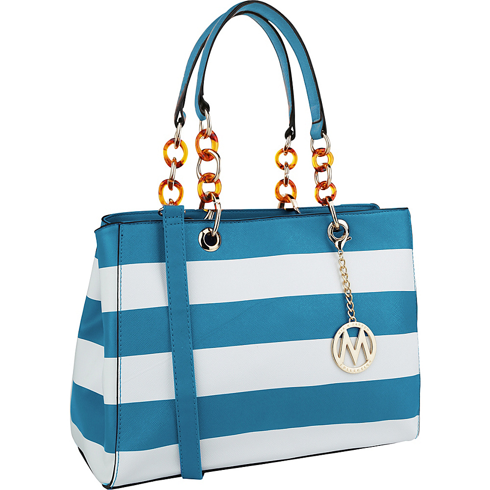 MKF Collection by Mia K. Farrow Clementine Milan M Signature Tote Light Blue - MKF Collection by Mia K. Farrow Manmade Handbags - Handbags, Manmade Handbags