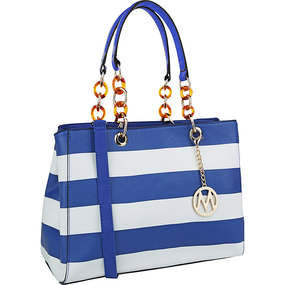 MKF Collection by Mia K. Farrow Clementine Milan M Signature Tote Royal Blue - MKF Collection by Mia K. Farrow Manmade Handbags - Handbags, Manmade Handbags