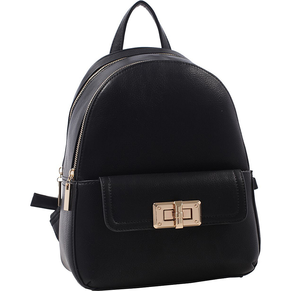 MKF Collection by Mia K. Farrow Paytons Trendy Backpack Black - MKF Collection by Mia K. Farrow Manmade Handbags - Handbags, Manmade Handbags