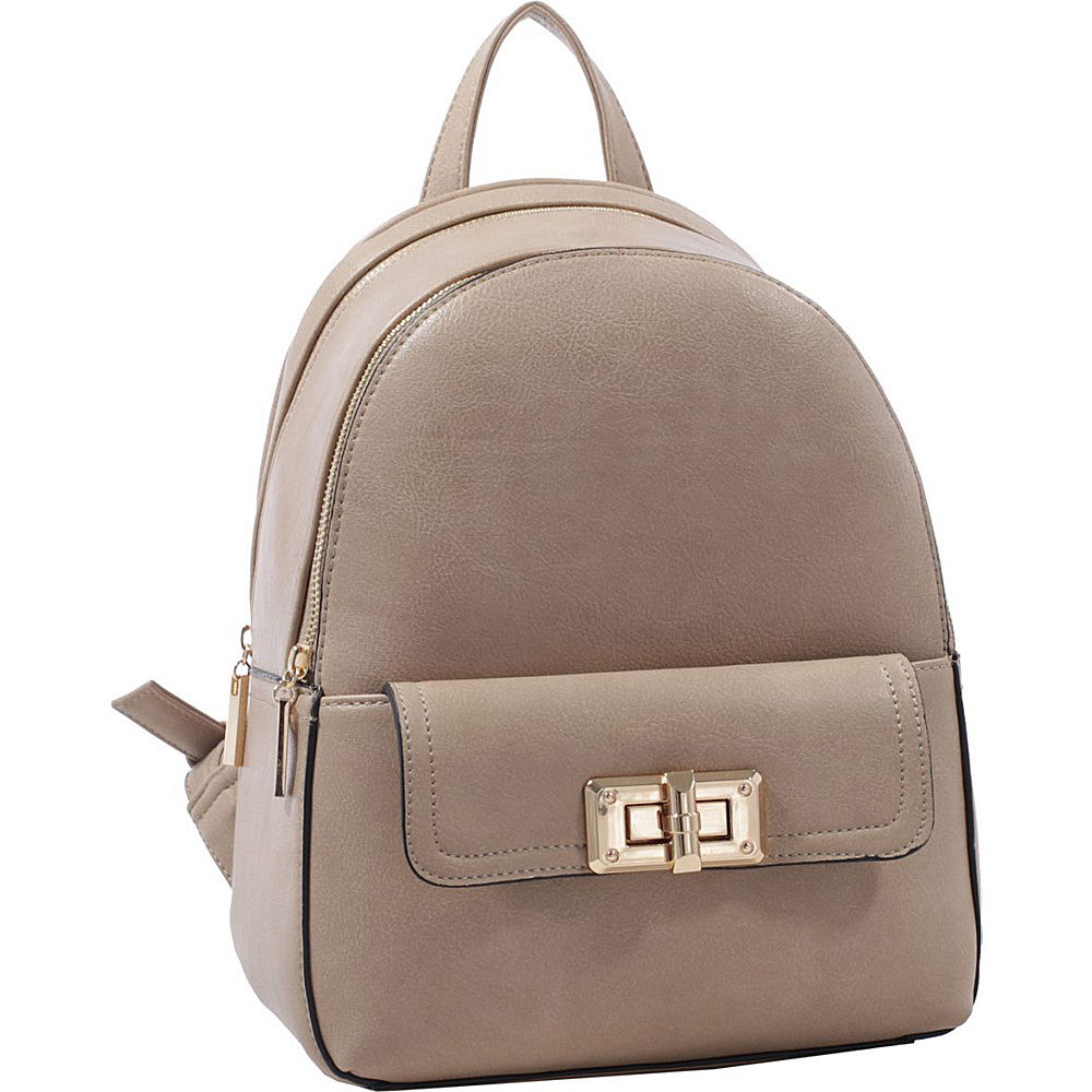 MKF Collection by Mia K. Farrow Paytons Trendy Backpack Light Stone - MKF Collection by Mia K. Farrow Manmade Handbags - Handbags, Manmade Handbags