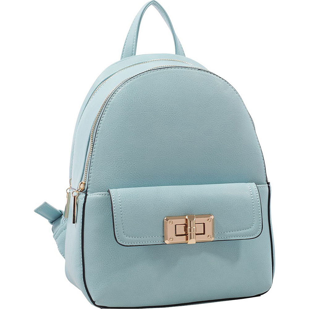 MKF Collection by Mia K. Farrow Paytons Trendy Backpack Light Blue - MKF Collection by Mia K. Farrow Manmade Handbags - Handbags, Manmade Handbags