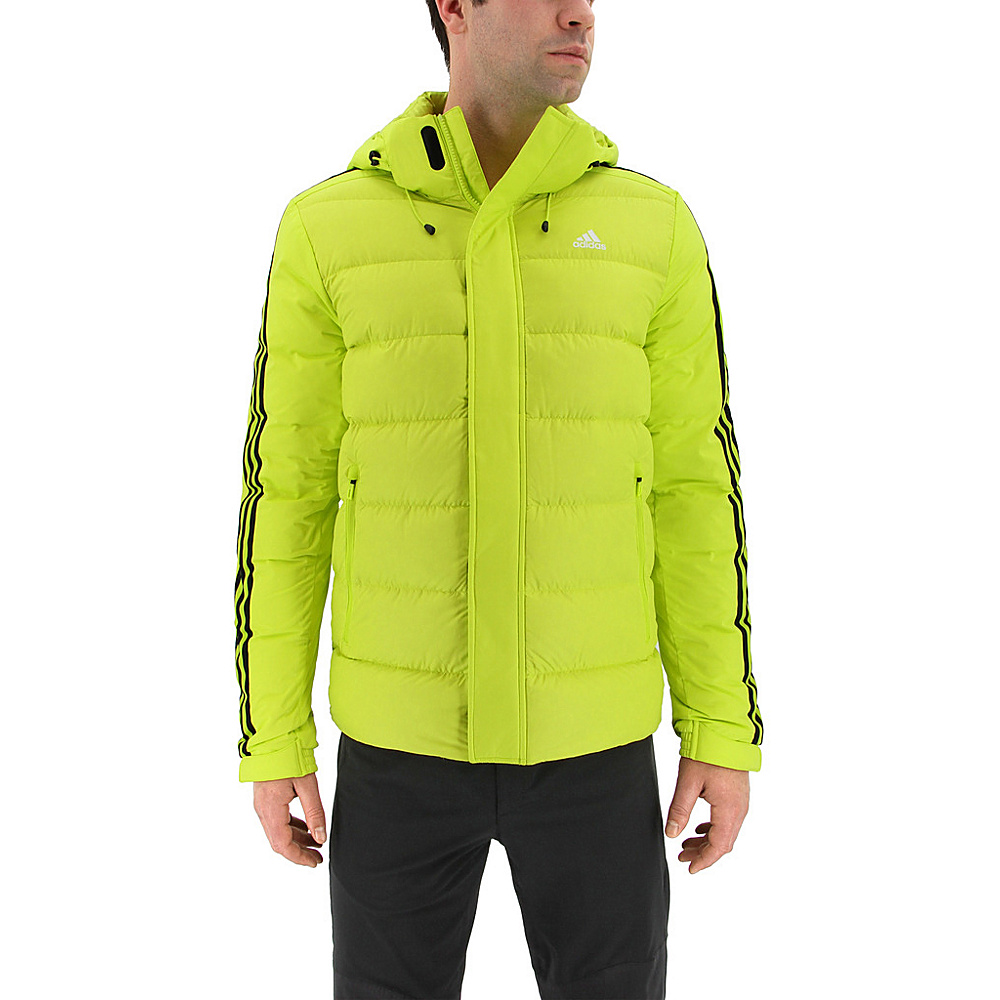 adidas outdoor Mens Itavic 3-Stripe Jacket S - Semi Solar Yellow/Black/White - adidas outdoor Mens Apparel - Apparel & Footwear, Men's Apparel