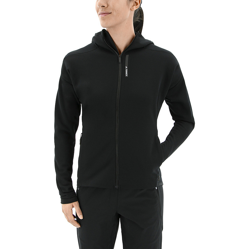 adidas outdoor Womens Terrex Climaheat Ultimate Fleece Jacket M - Black - adidas outdoor Womens Apparel - Apparel & Footwear, Women's Apparel