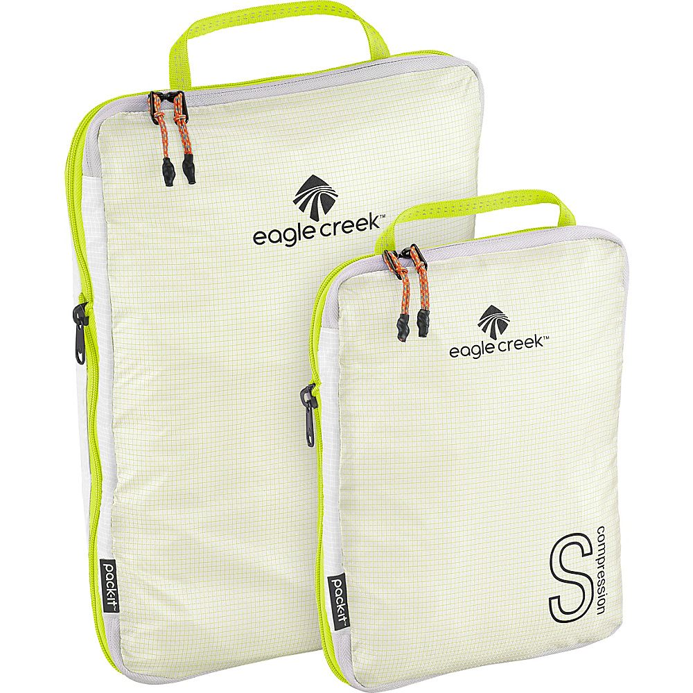 Eagle Creek Pack-It Specter Tech Compression Cube Set S/M White/Strobe - Eagle Creek Travel Organizers - Travel Accessories, Travel Organizers