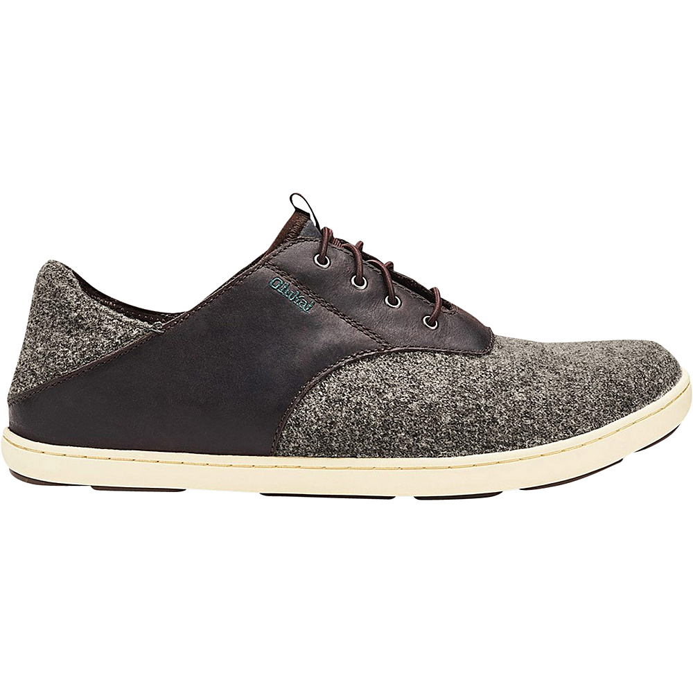 OluKai Mens Nohea Moku Hulu Shoe 7 - Dark Roast/Charcoal - OluKai Mens Footwear - Apparel & Footwear, Men's Footwear