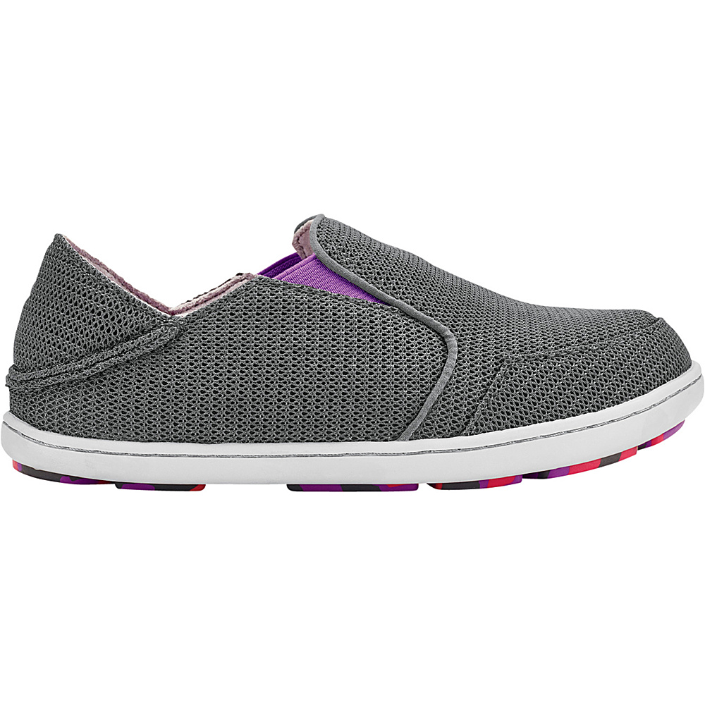 OluKai Girls Nohea Mesh Slip-On 11 (US Kids) - Dark Shadow/Dahlia - OluKai Womens Footwear - Apparel & Footwear, Women's Footwear